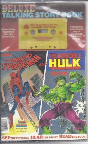 Deluxe Talking Storybook How the Amazing Spider-man and The Incredible Hulk Began