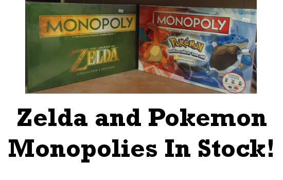 Zelda and Pokemon Monopolies In Stock