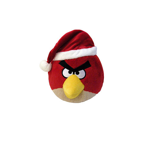 Angry Birds 5 Inch Christmas Hat Plush - Red Bird