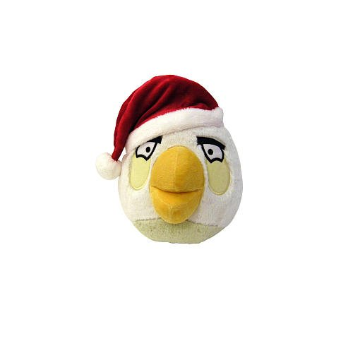 Angry Birds 5 Inch Christmas Hat Plush - White Bird