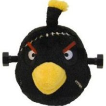 Angry Birds 5 Inch Halloween Plush - Black Frankenstein Bird