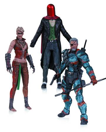 Arkham Origins 3-Pack Action Figures Deathstroke Joker Copperhead