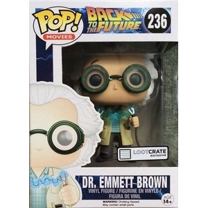 Back to the Future Dr. Emmett Brown (1955 jumper cable) Pop! Vinyl Figure (Lootcrate Exclusive)