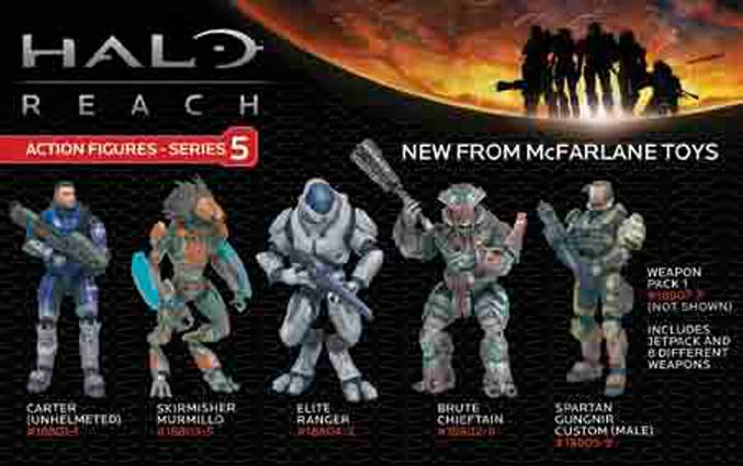 Halo Reach Series 5 Action Figure - Carter (No Helmet)