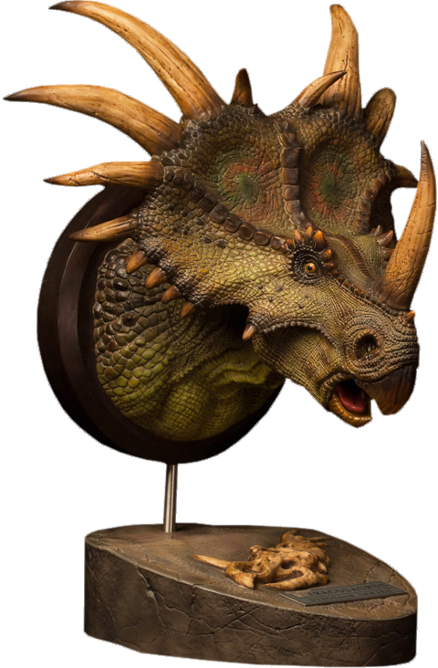 Styracosaurus (Green) - Museum Collection Series MUS004A - Bust