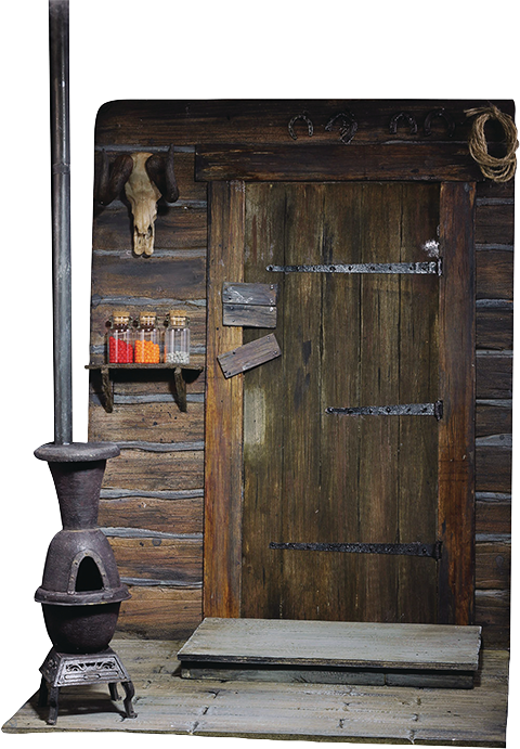 The Door of Haberdashery - Cinematic Diorama - Sixth Scale Figure Accessory