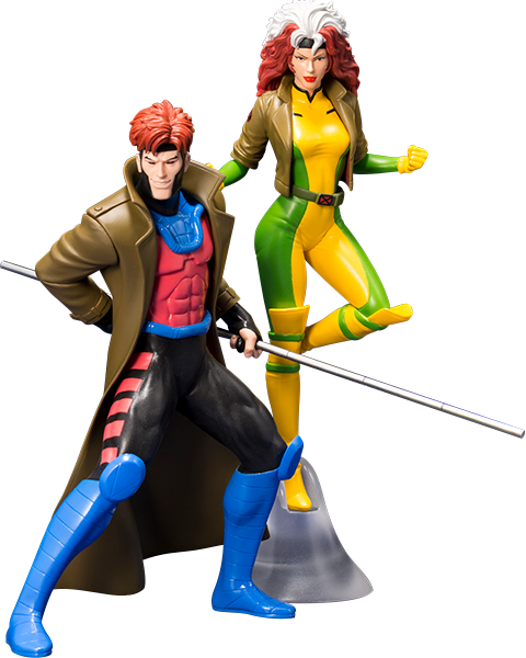 Gambit and Rogue Two-Pack Set - ARTFX: X-MEN - Statue