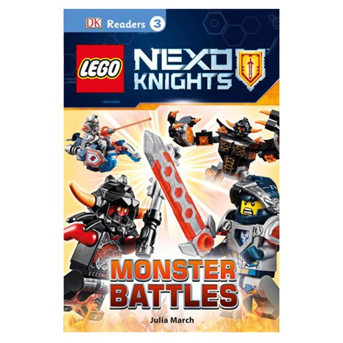 LEGO Nexo Knights Monster Battles DK Readers 3 Hardcover Book