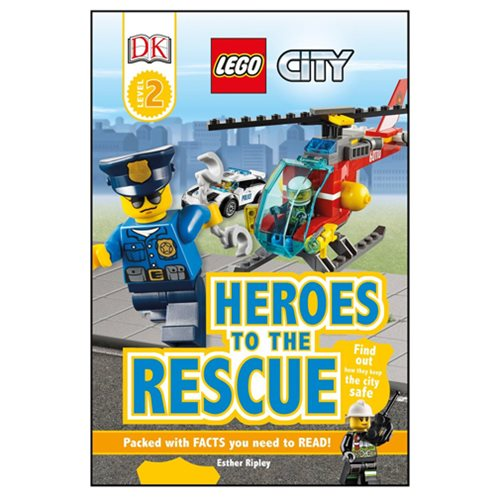LEGO City Heroes to the Rescue DK Readers 2 Hardcover Book