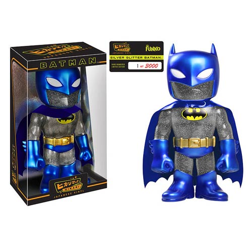Batman Dark Knight Blue Glitter Hikari Sofubi Vinyl Figure